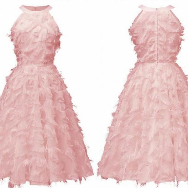 Strapless Light pink Women Short Summer Dress A Line Girls Short Homecoming Dress ,Cheap Junior Party Gowns ,Sweet 16 Prom Gowns