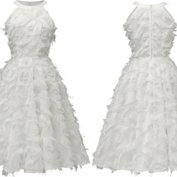 Strapless White Women Short Summer Dress A Line Girls Short Homecoming Dress ,Cheap Junior Party Gowns ,Sweet 16 Prom Gowns