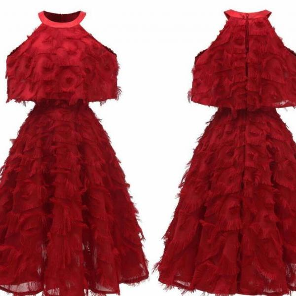 Strapless Burgundy Women Short Summer Dress A Line Girls Short Homecoming Dress ,Cheap Junior Party Gowns ,Sweet 16 Prom Gowns
